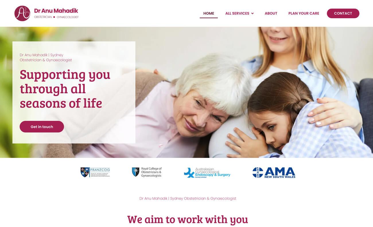 OB-GYN website for Dr Anu Mahadik