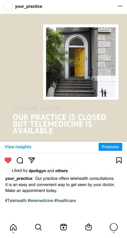 free social media posts for OB-GYN