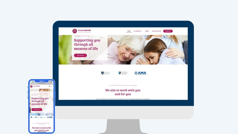 Gynaecology marketing agency - Dr Anu Mahadik   Digital Practice