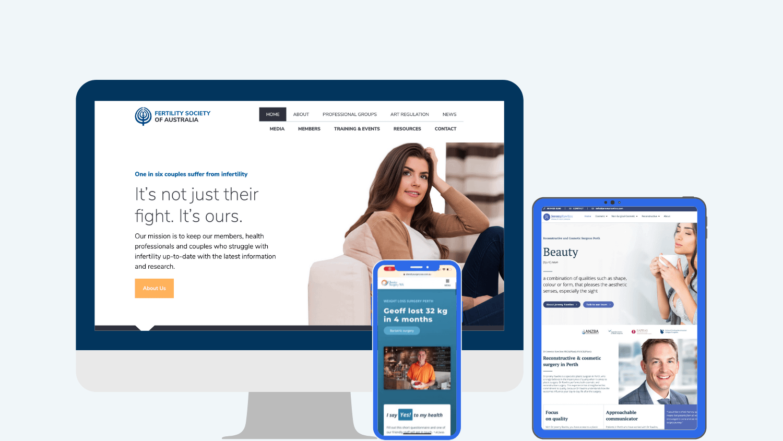 beautiful medical websites