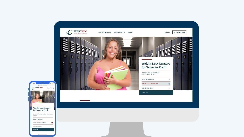bariatric surgery marketing for TeenTime Bariatrics - Digital Practice