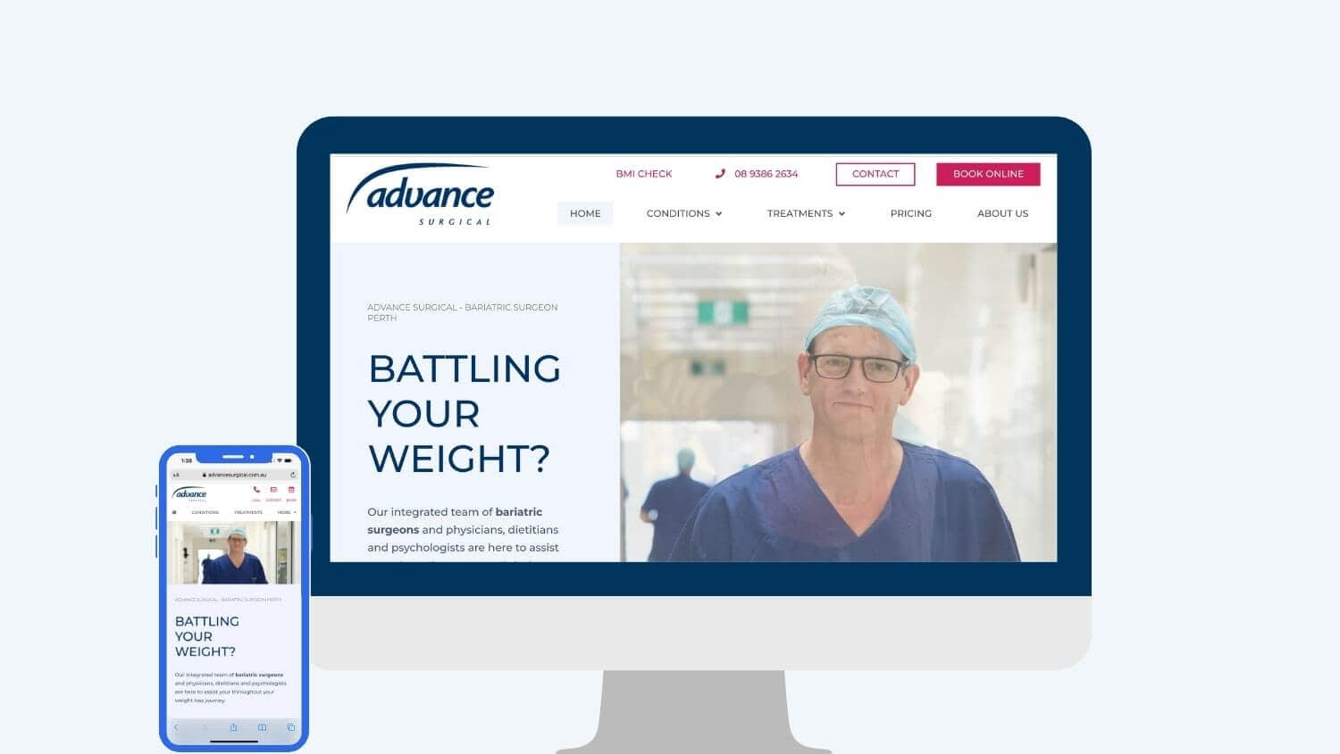 bariatric surgery marketing for Advance Surgical - Digital Practice